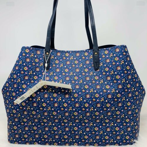 Tory Burch NWT Kerrington Square Tote Leather Blue Wild Pansy $298 Shoulder Bag image 4