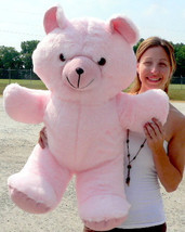 Giant Pink Teddy Bear 36 Inches Soft 3 Foot Teddybear Made in USA - $86.54