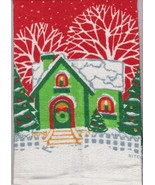 Two Christmas Hand Towels Kitchen Towels New - $6.92