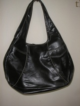 Nine West shoulder purse   black leather - $15.00