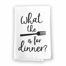 Honey Dew Gifts What The Fork is for Dinner Flour Sack Towel, 27 x 27 In... - $19.39
