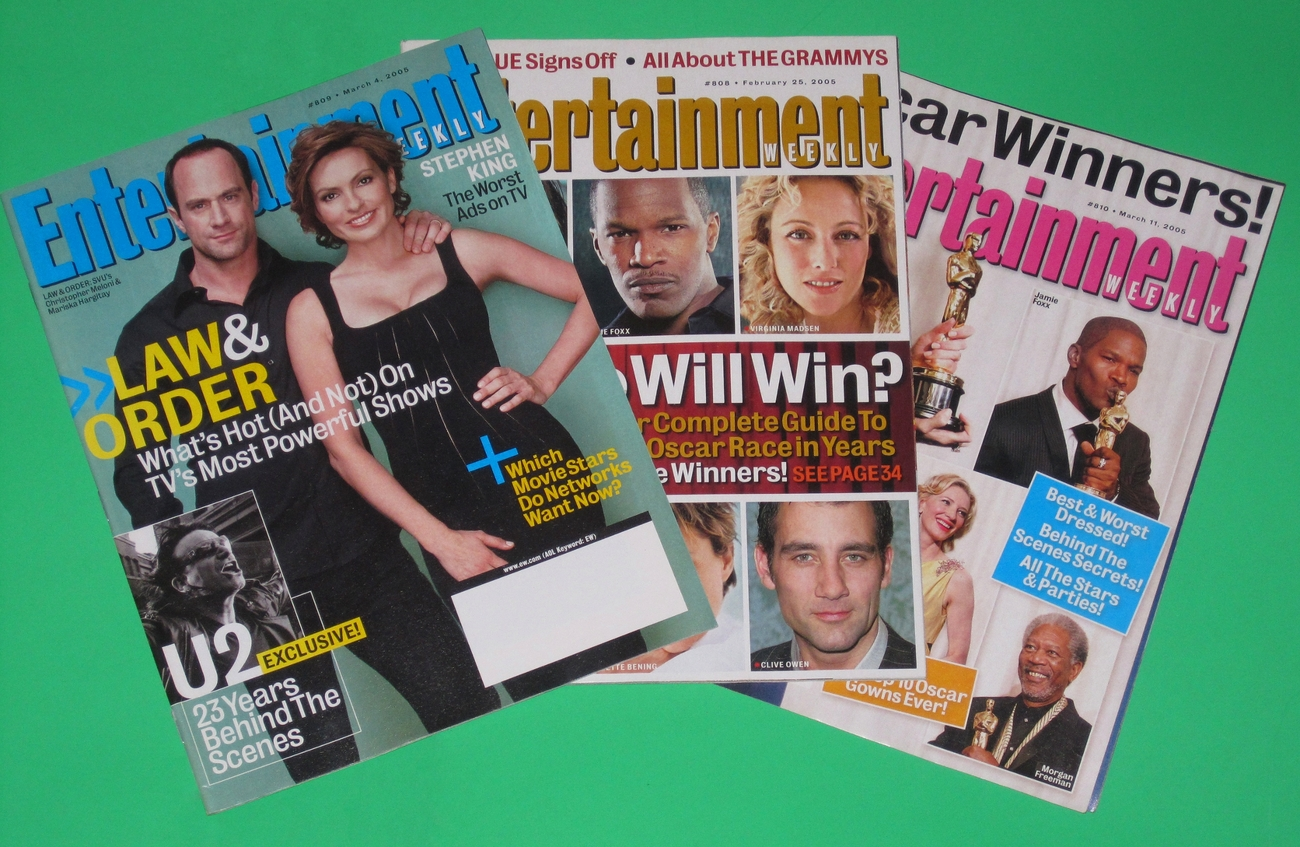3 Entertainment Weekly magazine back Issues