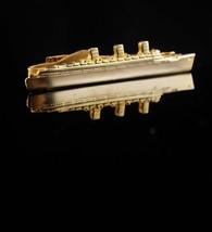 Vintage Military Tie clip / Navy gift/ BATTLESHIP / Navy ship / Armed Fo... - $95.00