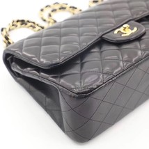 NEW AUTHENTIC CHANEL BLACK QUILTED LAMBSKIN JUMBO CLASSIC DOUBLE FLAP BAG GHW image 14