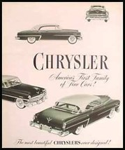 1953 Chrysler Brochure Crown Imperial Windsor New Yorkr - $5.68