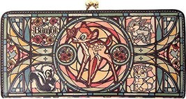 Diversion Stained Glass Leather Wallet Bambi Disney Limited Japan - $266.46
