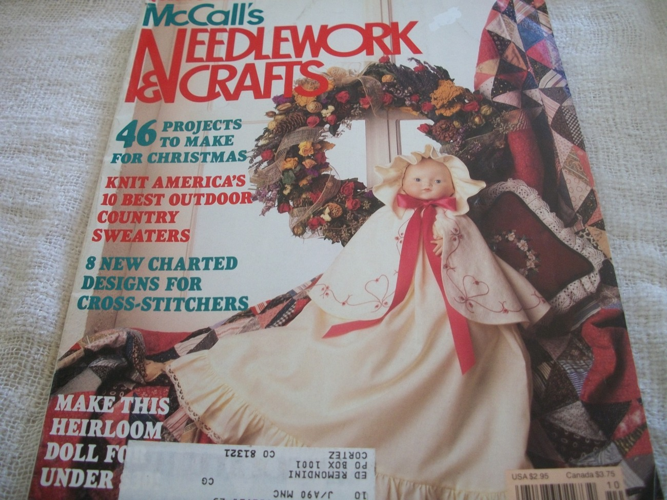 Primary image for McCall's Needlework & Crafts October 1989 Magazine