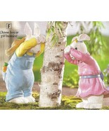 Girl & Boy Bunnies Playing  Peek-A-Boo Seasonal - $29.95