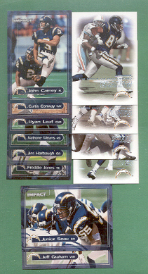2000 Dominion San Diego Chargers Football Team Set