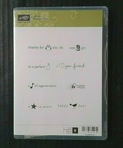 Stampin Up Cling Rubber Stamp Hostess Set Picture This Sayings Expressions - $10.29