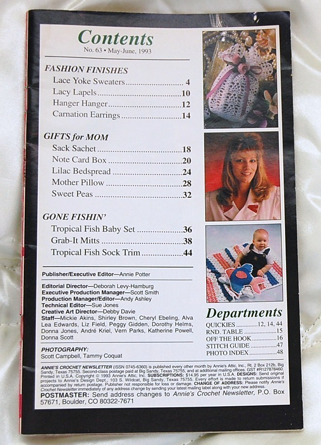 Annie's Crochet Newsletter May - June  1993 No. 63