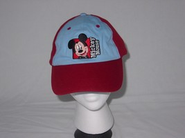 One Size Disney Micky Mouse Baseball Hat Trucker Red  - $4.74