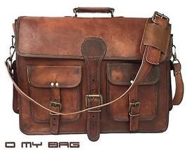 Brown Handmade 16 Inch Leather Crossbody Shoulder  Bag For Men Women - $64.35+