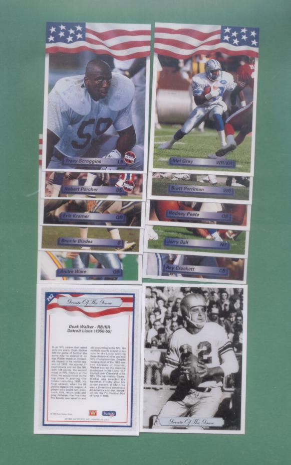 1992 All World Detroit Lions Football Team Set