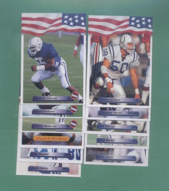 1992 All World Indianapolis Colts Football Team Set