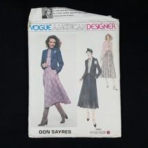 Vintage Vogue American Designer Don Sayres Dress Size 10 #1964 Sewing Pattern - $6.99