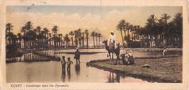 CAIRO EGYPT LANDSCAPE NEAR PYRAMIDS~L SCORTZIS~BOOKMARK POSTCARD 1910s - $5.53