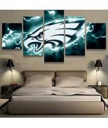 5pcs Philadelphia Eagles Football Printed Canvas Wall Art Picture Home D... - £21.78 GBP+