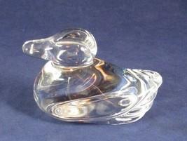 Atlantis Small Full Lead Crystal Duck Art Glass Figurine, Signed - $10.99