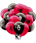 16pcs Scary Halloween Party Balloons Trick Treat Black Zombie Blood Balloon - $7.77