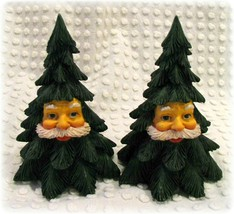 2 Vintage Dept 56 Department 56 Resin Carved Santa Face Christmas Tree D... - $12.34