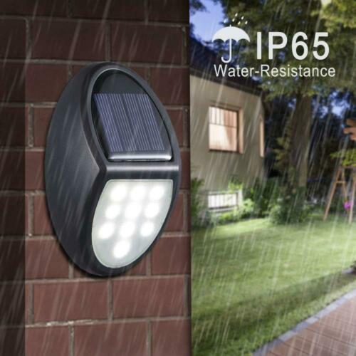 Lampe Solaire Exterieur, MOSUO 2 pack 10 LED lampe Applique Led, eclairage...