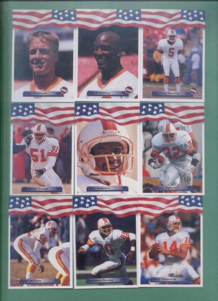 1992 All World Tampa Bay Buccaneers Football Set
