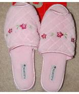 Vassarette Slip on Slippers Womens Medium Pink Peep Toe - $4.50