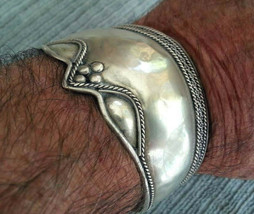 Vintage Bali Cuff Bracelet .925 Pure Sterling Silver Unisex  6.75 inches - $65.41