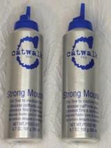 *2 Cans* TIGI Catwalk Strong Mousse Fine to Medium Hair 6.7 oz, Missing ... - $22.74