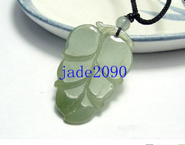 Free Shipping- Hand carved 100% Type AAA Natural dark Green Jadeite Jade carved  - $19.99