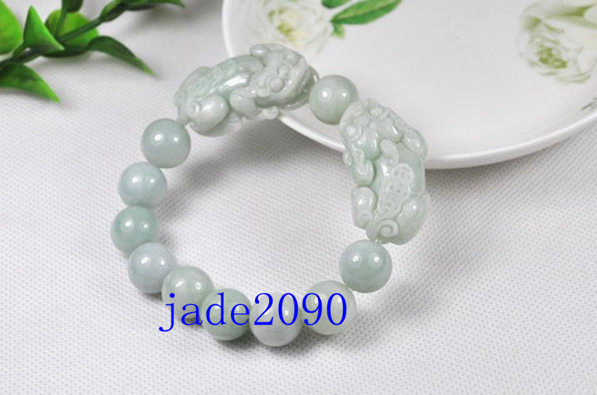 Free Shipping - good luck Amulet Natural white jade carved '' PI YAO'' Prayer Be
