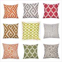 "18"" Linen Cotton Fashion Throw Pillow Case Cushion Cover Decor Home Sofa US New - $6.95"