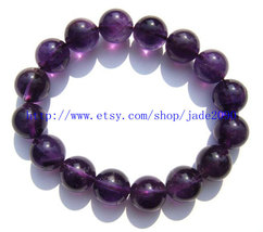 Free Shipping - Natural Amethyst / Purple Crystal / purple Quartz Prayer Beads c - $25.99