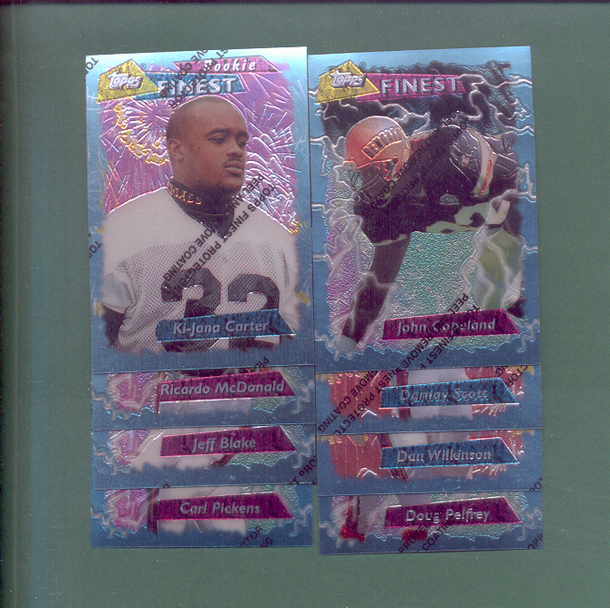 1995 Topps Finest Cincinnati Bengals Football  Set