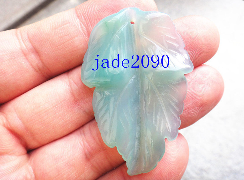 Free shipping good luck natural green agate carved