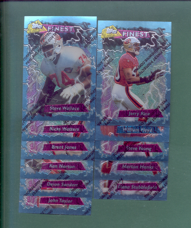 1995 Topps Finest San Francisco 49ers Football Team Set