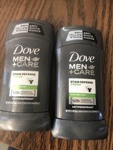 2 Dove Men+Care Antiperspirant Deodorant Stick Stain Defense Fresh 2.7 oz - $12.86