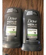 2 Dove Men+Care Antiperspirant Deodorant Stick Stain Defense Fresh 2.7 oz - $12.86