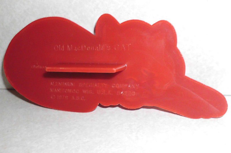 Vintage Old MacDonald's McDonald's Kitty Cat Cookie Cutter