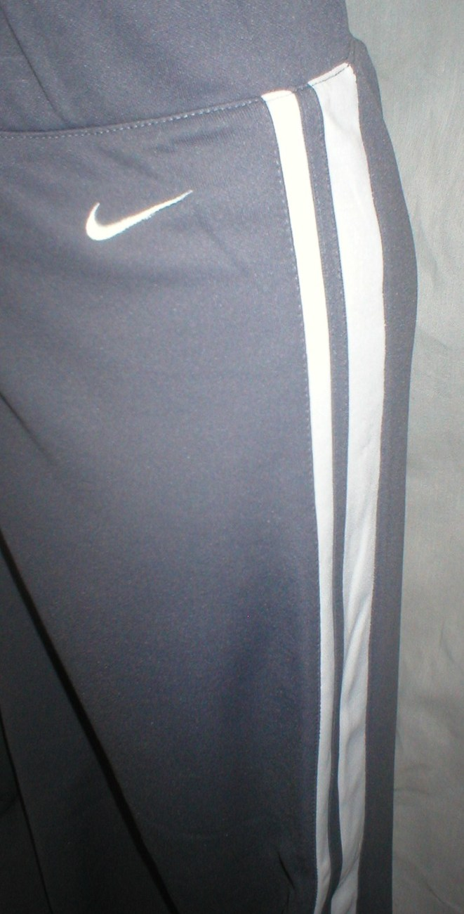 Nike Gray & White athletic sport workout warm up pants XL NEW