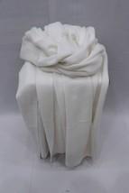 White Soft Wool Blanket Throw Baby Alpaca Blanket Shawl Reversible Blank... - $87.35
