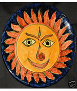REDUCED--75% OFF--TALAVERA Plate--Smiling Sun - $20.00