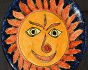 REDUCED--75% OFF--TALAVERA Plate--Smiling Sun