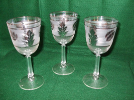 """Vintage Libbey Goblet """"Silver Leaf"""" - $25.00"""