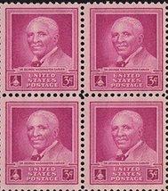 1948 George Washington Carver Block of 4 US Postage Stamps Catalog 953 MNH