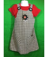 Girls Amy Too Byer California Plaid Dress Jumper With Shirt - $11.30