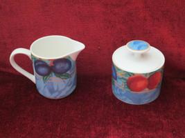Victoria Beale Forbidden Fruit creamer and sugar bowl - $18.76