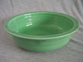 Vintage Fiestaware Original Green Nappy Serving Bowl Fiesta - $42.40