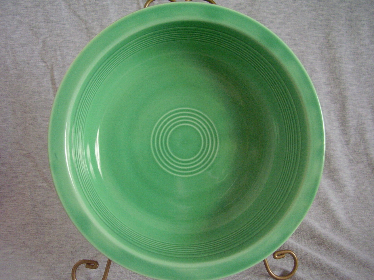 Vintage Fiestaware Original Green Nappy Serving Bowl Fiesta
